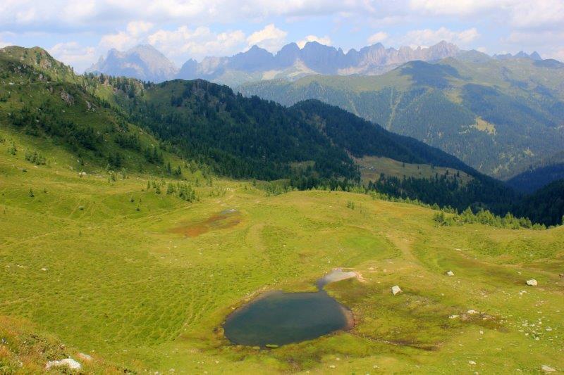 Lago di Valsorda dalla forcella verso Lagorai