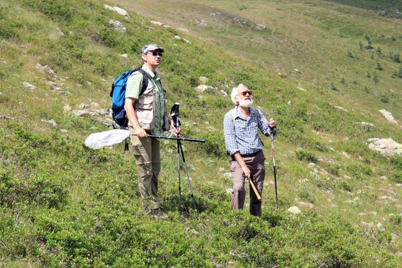 Timossi e Bizzarini scrutano il versante